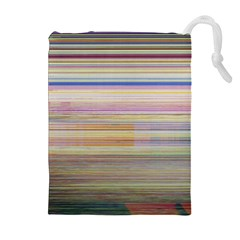 Shadow Faintly Faint Line Included Static Streaks And Blotches Color Drawstring Pouches (extra Large) by Mariart