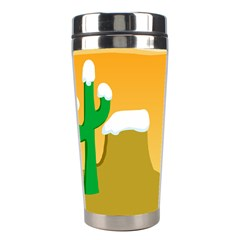 Sunrise Sunset Desert Sun Light Orange Ice Snow Stainless Steel Travel Tumblers by Mariart