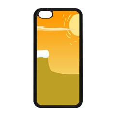 Sunrise Sunset Desert Sun Light Orange Ice Snow Apple Iphone 5c Seamless Case (black) by Mariart