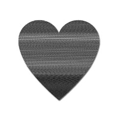 Shadow Faintly Faint Line Included Static Streaks And Blotches Color Gray Heart Magnet by Mariart