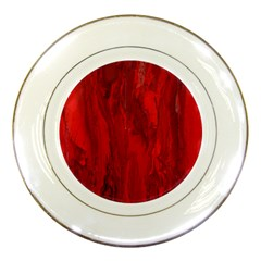 Stone Red Volcano Porcelain Plates by Mariart