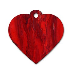 Stone Red Volcano Dog Tag Heart (one Side) by Mariart