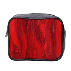 Stone Red Volcano Mini Toiletries Bag 2 Side by Mariart