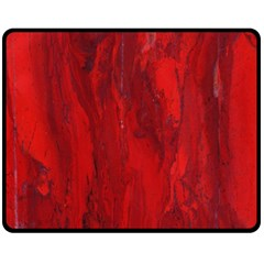 Stone Red Volcano Fleece Blanket (medium)  by Mariart
