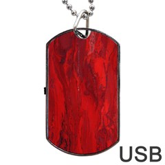 Stone Red Volcano Dog Tag Usb Flash (two Sides) by Mariart