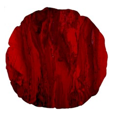 Stone Red Volcano Large 18  Premium Round Cushions by Mariart