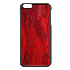 Stone Red Volcano Apple Iphone 6 Plus/6s Plus Black Enamel Case by Mariart