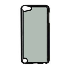 Ash Gray Solid Color  Apple Ipod Touch 5 Case (black) by SimplyColor