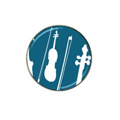Violin Music Blue Hat Clip Ball Marker (10 Pack) by Mariart