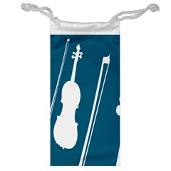 Violin Music Blue Jewelry Bag by Mariart