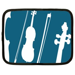 Violin Music Blue Netbook Case (xl)  by Mariart