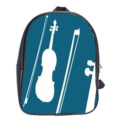 Violin Music Blue School Bags(large)  by Mariart