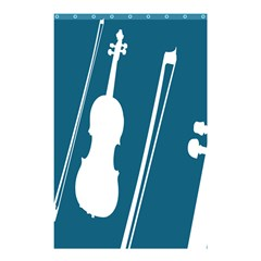 Violin Music Blue Shower Curtain 48  X 72  (small)  by Mariart