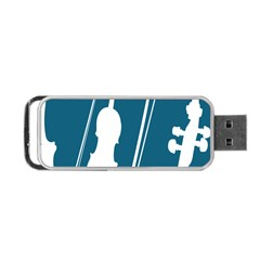 Violin Music Blue Portable Usb Flash (two Sides) by Mariart