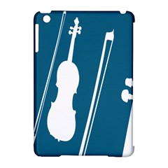 Violin Music Blue Apple Ipad Mini Hardshell Case (compatible With Smart Cover) by Mariart