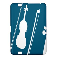 Violin Music Blue Kindle Fire Hd 8 9  by Mariart