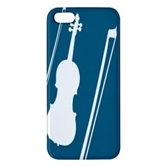 Violin Music Blue Iphone 5s/ Se Premium Hardshell Case by Mariart