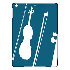 Violin Music Blue Ipad Air Hardshell Cases by Mariart