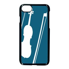 Violin Music Blue Apple Iphone 7 Seamless Case (black) by Mariart