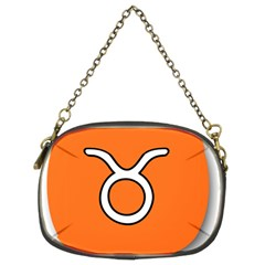 Taurus Symbol Sign Orange Chain Purses (two Sides)  by Mariart