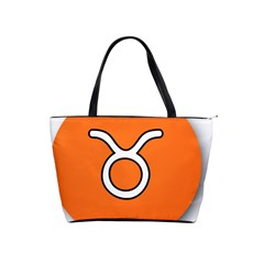 Taurus Symbol Sign Orange Shoulder Handbags by Mariart