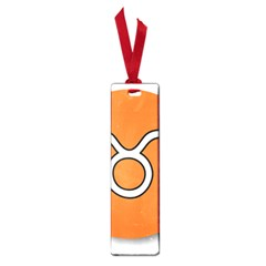Taurus Symbol Sign Orange Small Book Marks by Mariart