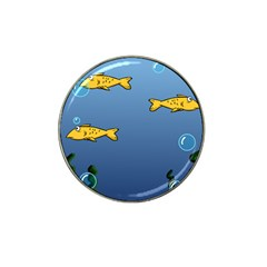 Water Bubbles Fish Seaworld Blue Hat Clip Ball Marker by Mariart