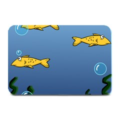 Water Bubbles Fish Seaworld Blue Plate Mats by Mariart