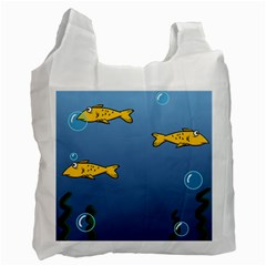 Water Bubbles Fish Seaworld Blue Recycle Bag (two Side)  by Mariart