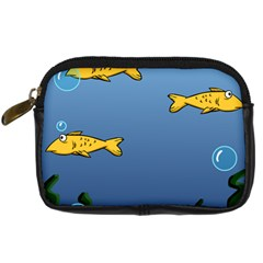 Water Bubbles Fish Seaworld Blue Digital Camera Cases by Mariart