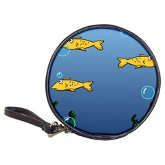 Water Bubbles Fish Seaworld Blue Classic 20 Cd Wallets by Mariart