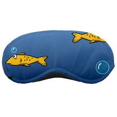 Water Bubbles Fish Seaworld Blue Sleeping Masks by Mariart