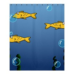 Water Bubbles Fish Seaworld Blue Shower Curtain 60  X 72  (medium)  by Mariart