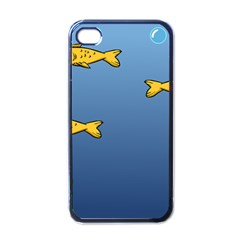 Water Bubbles Fish Seaworld Blue Apple Iphone 4 Case (black) by Mariart