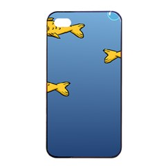 Water Bubbles Fish Seaworld Blue Apple Iphone 4/4s Seamless Case (black) by Mariart