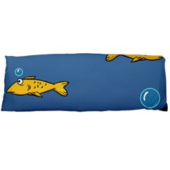 Water Bubbles Fish Seaworld Blue Body Pillow Case Dakimakura (two Sides) by Mariart