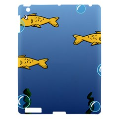 Water Bubbles Fish Seaworld Blue Apple Ipad 3/4 Hardshell Case by Mariart