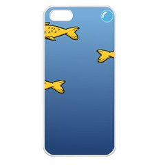 Water Bubbles Fish Seaworld Blue Apple Iphone 5 Seamless Case (white) by Mariart