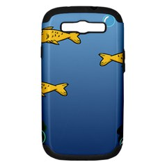 Water Bubbles Fish Seaworld Blue Samsung Galaxy S Iii Hardshell Case (pc+silicone) by Mariart