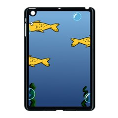 Water Bubbles Fish Seaworld Blue Apple Ipad Mini Case (black) by Mariart