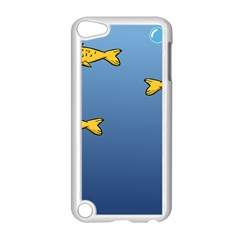 Water Bubbles Fish Seaworld Blue Apple Ipod Touch 5 Case (white) by Mariart