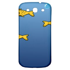 Water Bubbles Fish Seaworld Blue Samsung Galaxy S3 S Iii Classic Hardshell Back Case by Mariart