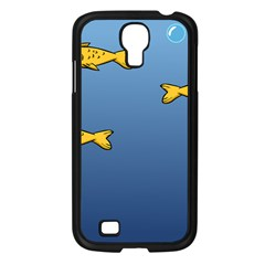 Water Bubbles Fish Seaworld Blue Samsung Galaxy S4 I9500/ I9505 Case (black) by Mariart
