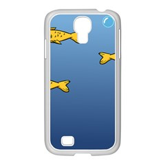 Water Bubbles Fish Seaworld Blue Samsung Galaxy S4 I9500/ I9505 Case (white) by Mariart