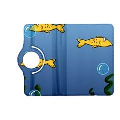 Water Bubbles Fish Seaworld Blue Kindle Fire Hd (2013) Flip 360 Case by Mariart