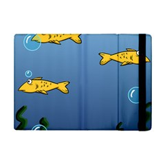 Water Bubbles Fish Seaworld Blue Ipad Mini 2 Flip Cases by Mariart