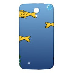 Water Bubbles Fish Seaworld Blue Samsung Galaxy Mega I9200 Hardshell Back Case by Mariart