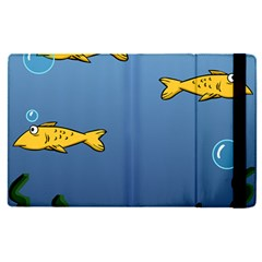 Water Bubbles Fish Seaworld Blue Apple Ipad Pro 9 7   Flip Case by Mariart