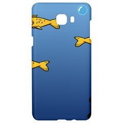 Water Bubbles Fish Seaworld Blue Samsung C9 Pro Hardshell Case  by Mariart