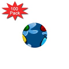 Water Balloon Blue Red Green Yellow Spot 1  Mini Buttons (100 Pack)  by Mariart